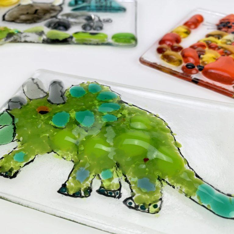 Fused glass workshops –Dinosaur design
